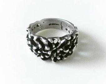 Vintage Mid Century Brutalist Ring