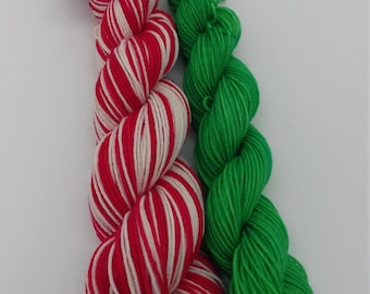 75/25 Superwash Merino / Nylon sock yarn: Pepper Minstyx Elf Self Striping Sock Yarn Set