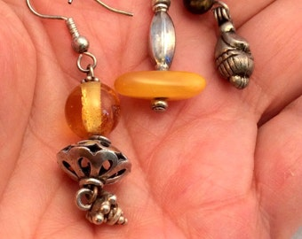 Baltic Amber or Tiger Iron Earrings. free US ship.