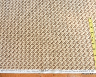 One Half Yard Cut Quilt Fabric, Mushroom color Basket Weave by Maria Kalinowski for Kanvas, Sewing-Quilting-Craft Supplies