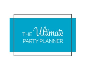 Party Planner Printable / Event Planner / Editable Planner / PDF / Instant Download