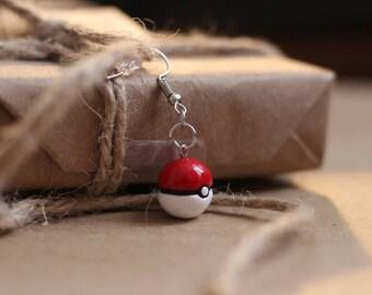 Poke Ball Earrings - Pokemon Anime Jewelry