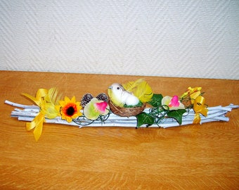 Centerpiece and decor nest of bird on branches