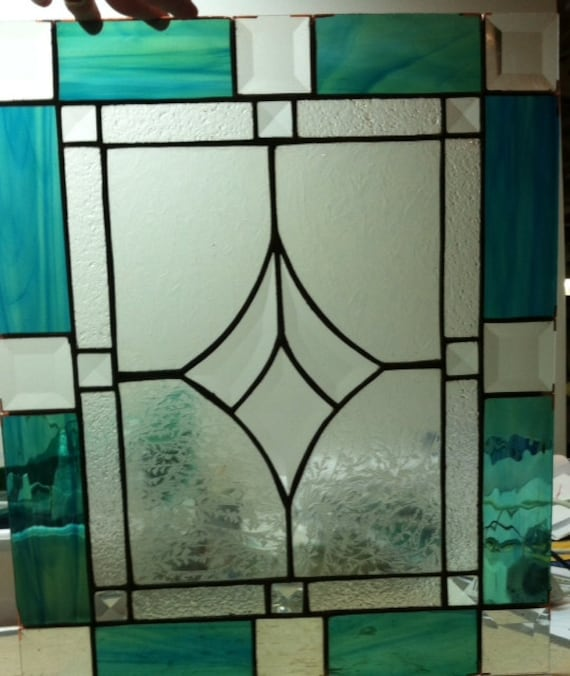 Stained Glass Kitchen Cabinet Doors Patterns: Custom Stained Glass Panel For Kithcen Cabinet Door Insert