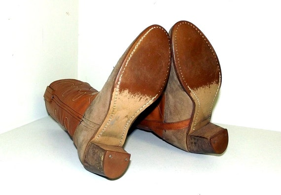 heels Dexter with Womens brand Tan Narrow boots brown 8 high size qXwzt6