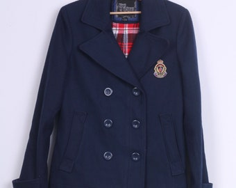 Ruby Tuesday Womens 40 L Jacket Double Breasted Wool Navy
