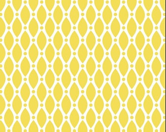 Stof - Duo-Graphic Dots - Yellow - Fabric by the Yard ST4500-202