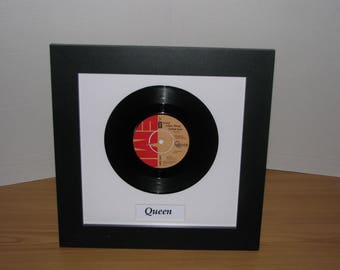 "Queen Crazy little thing called love 7"" framed vinyl gift"