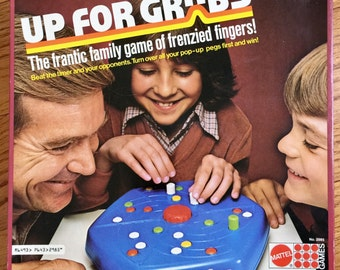 Vintage 1970s Game / Mattel Up For Grabs 1979 Complete VGC / The Frantic Family Game of Frenzied Fingers!