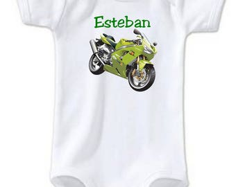 Bodysuit bike personalized with name