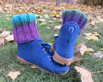 Felted boots Wool shoes Felted shoes Warm shoes Christmas gift handmade Winter boots Boiled wool, OOAK