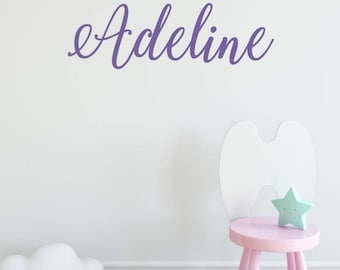 Girls Name Decal, Girls Room Wall Decal, Little Girls Bedroom Decor, Personalized Name Decal
