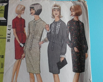 Sewing Pattern McCall's 8047 for a Woman's 1960's Dress in Size 12