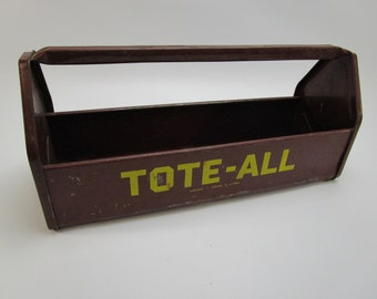 Vintage metal tool caddy Tote-All