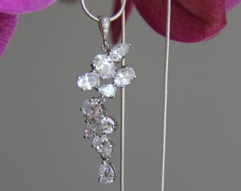 Wedding bridal Cubic zironia necklace