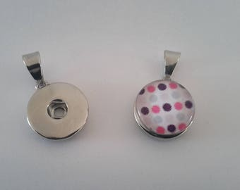 Sterling Silver 18mm snap buttons