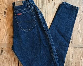 Vintage LEE jeans, vintage lee mom jeans, high rise LEE jeans, dark wash LEE jeans, 80's jeans