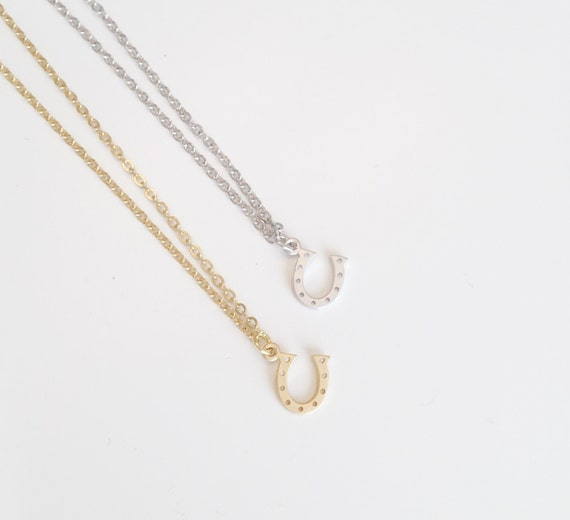 Silver Horseshoe Necklace | Lucky Charm Necklace | Gold Charm Necklace | Gifts For her | Dainty Necklace | Simple Necklace | Gift For Mom