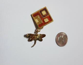 Geometric Dragonfly Dangle Pin