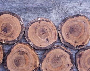 Holz Scheiben Holz Platten DIY Versorgung Handwerk Holz Baum Scheiben Hochzeit DIY Log Scheiben Holz Zubehör für DIY Projekte Satz von 10 4'' rustikal