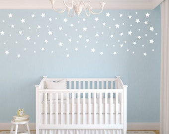 Peel And Stick Decals Stars Star Wall Decals Nursery Wall Decals Confetti Star