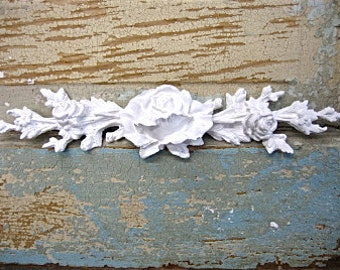 Shabby Chic Rose Center FURNITURE APPLIQUES  5.95 No Limit Shipping in the USA