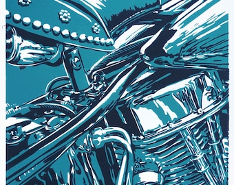 Panhead, classic motorcycle, detail Tech04