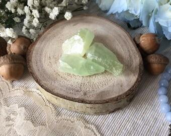 Stone calcite green brute lithotherapie