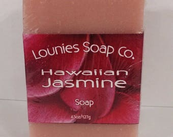 Hawiian Jasmine Soap | Floral | Hawaii | Soap | Feminine | Lei | Vegan Soap | Scented Soap | Handmade Soap | Gift | Bar Soap | Unique Gift