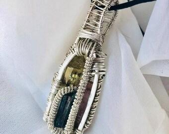 Lemurian medicine bag pendant