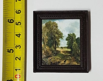 Constable framed painting The Cornfield - for 1:12 dollhouse