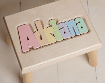 Name Puzzle Stool- Regular Size