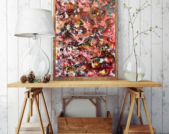 Canvas Art for Sale, Acrylic Pour Art, Original abstract acrylic painting, Modern Art Abstract, art for office, housewarming gift, wall art