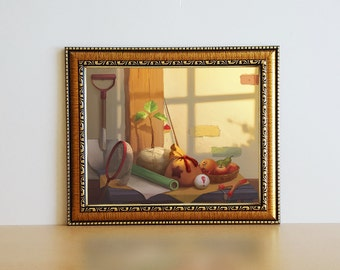 Animal Crossing Still Life Print