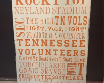 Tennesse Volunteers Wooden Sign