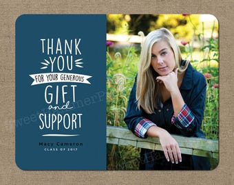 Thank You Graduation Cards In School Colors Grad Thank You Cards Graduation  Thank You Notes Photo