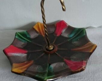 Vintage Dish Small Umbrella, French Ring Dish, Loose Change Dish,