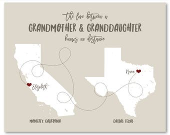 Gifts for Family Gifts Family Gift Ideas Grandma Gift for Grandma Christmas Gifts for Grandma Personalized Grandma Gifts Long Distance Print