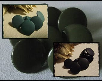 LOT 10 buttons blue grey or black matte or shiny khaki * 12 mm * 1.2 cm foot * button