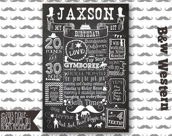 Western Party - Cowboy Party - Western Birthday - Cowboy Birthday - Western Birthday Chalkboard - Cowboy Birthday Party - Little Cowboy