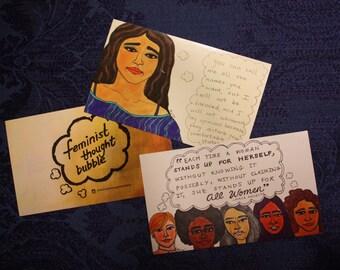 Feminist Thought Bubble Feminist Sticker Pack