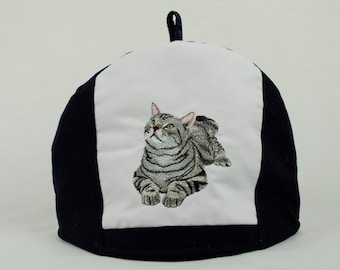 Tea Cosy,cat lovers,Black and White,short haired,