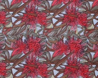 FLOWERING GUM Red Clay -  Australian Art Quilting Fabric -  sold by 1/4 metre or Fat Quarter