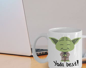 Yoda Mug - Friend Mug - Yoda Gifts - Yoda Collectors - Star Wars Mug - Yoda Best Pun Mug - Funny Star Wars Gift