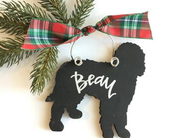 Goldendoodle / labradoodle personalized ornament