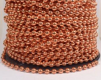 5 Feet 6.3mm Ball Chain - 100% Copper