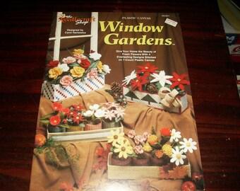 Plastic Canvas Window Gardens Needlecraft Shop 953951 Pattern Leaflet