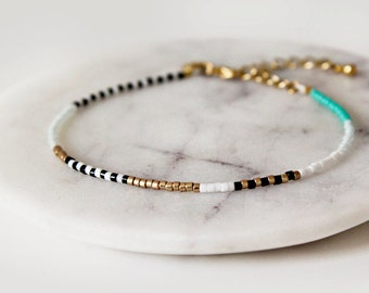 Soft Blush Xo Gold Chain Friendship Bracelet Woven
