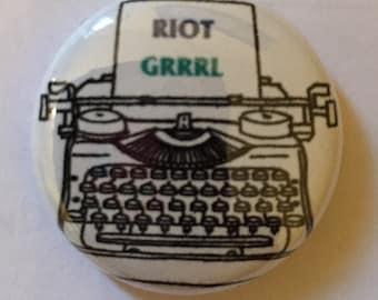 Riot GRRRL button