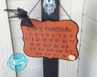 Spooky Countdown- Halloween Countdown, Halloween Calendar, Magnet Countdown, Halloween Decorations, Halloween Sign, Countdown to Candy,